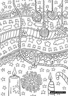 OPTIMIMMI | A free Christmas-themed coloring page / Ilmainen jouluteemainen värityskuva