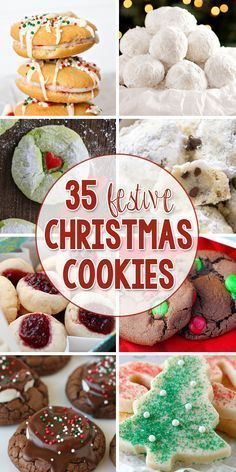 35 Festive Christmas Cookies - Perfect for neighbor gifts or even for Christmas Cookie Exchange Parties! I want to make the cranberry bliss cookies Cookie Exchange Party, Christmas Cookie Exchange, Christmas Sweets, Christmas Cooking, Noel Christmas, Christmas Goodies, Holiday Baking, Christmas Desserts, Christmas Neighbor