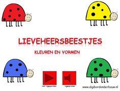 Digibordles. Lieveheersbeestje: kleur en vorm.     http://digibordonderbouw.nl/index.php/themas/dieren/lieveheersbeestjes