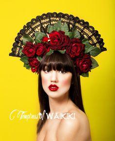 Flamenco Rose Headdress