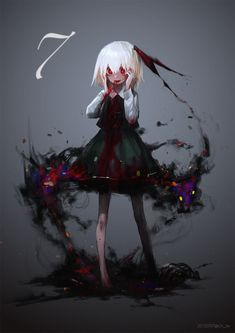 Suzki, Touhou, Rumia, Blood On Face, Yandere