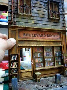 """Book Store Diorama """"work in progress by Ali Alamedy"""""""