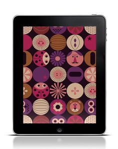 Free iPad wallpaper by Ingela P Arrhenius, who is a Sweden based illustrator. Awesome!