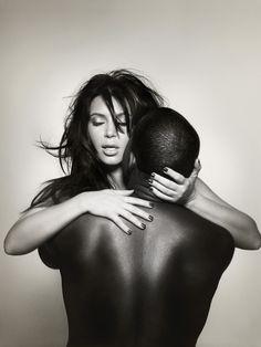 Kim Kardashian & Kanye West. L'Officiel-Homme. Photo: Nick-Knight