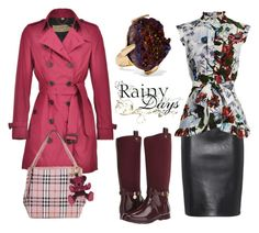 """""""Rainy days"""" by amaiba ❤ liked on Polyvore featuring Moschino, Burberry, Erdem, MICHAEL Michael Kors and Christopher Kane"""