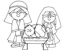 nativity coloring page - Christmas Nativity Coloring Pages