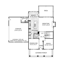 Home Plans HOMEPW75273 - 2,407 Square Feet, 4 Bedroom 2 Bathroom Country Home with 2 Garage Bays