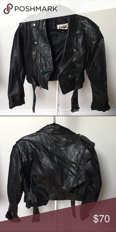 Great condition vintage 80s leather jacket Stylish 100% leather jacket chia Jackets & Coats