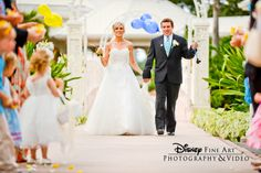 This adorable couple showed their Disney spirit during their staged exit #Disney #wedding #photography