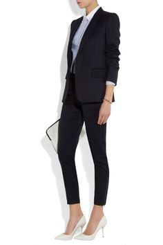 cropped ankle pantsuit, pair w/ black heels for a more formal look | Skirt the Ceiling