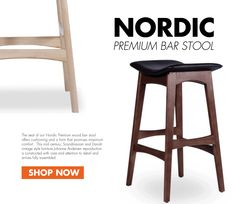 The Allegra barstool offers the look of Johannes Andersen's Danish modern barstool. Get the look of Danish furniture & scandinavian furniture. Danish Style, Danish Modern, Mid-century Modern, Wood Bar Stools, Modern Bar Stools, Danish Furniture, Scandinavian Furniture, Contemporary Interior, Contemporary Style