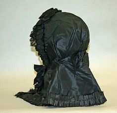In the Swan's Shadow: Black Silk Hood, mid-19th century