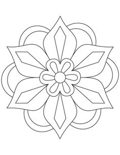 Simple Mandala Flower Coloring Pages. 30 Simple Mandala Flower Coloring Pages. Easy Flower Mandala Coloring Pages at Getdrawings Mandala Art, Design Mandala, Mandala Pattern, Easy Mandala, Simple Mandala Designs, Geometric Designs, Pattern Coloring Pages, Flower Coloring Pages, Mandala Coloring Pages
