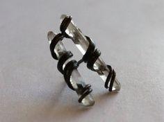 Quartz Spike stud earrings  Black earrings от CraftsGardenOfZen