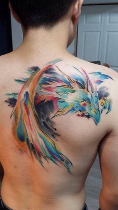 watercolour dragon tattoo - Google Search