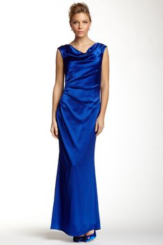 Drape Front Satin Gown by Laundry By Shelli Segal on @nordstrom_rack