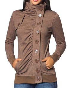 Asymmetrical button-up jacket