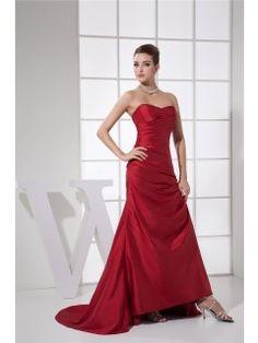 Sheath/Column Sweep/Brush Train Sweetheart Pick Up Skirt Ruching #Dress