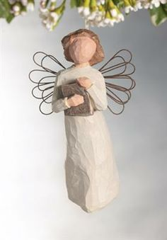 angels holding books | Willow Tree Love of Learning Ornament