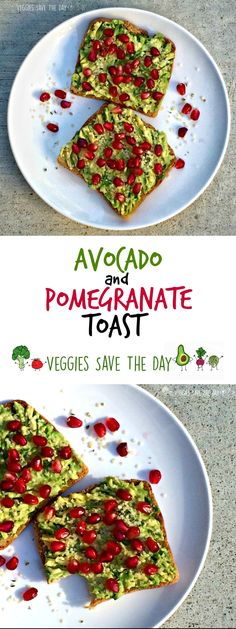 Mix up your bread and butter routine with Avocado and Pomegranate Toast! Vegan…