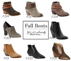 Fall Bootie Options