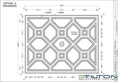 Coffered Ceiling Design Drawing - Bespoke 22