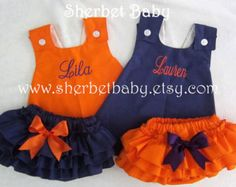 Cross Back Pinafore Dress and Sassy Pants Ruffled by SherbetBaby