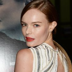 Kate Bosworth has on the perfect red lip color for fall by Laura Mercier