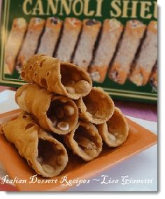 See cannoli recipes with two different cannoli filling recipes - ricotta cheese or mascarpone. Purchase cannoli shells in stores.See this and over 235 Italian dessert recipes with photos.