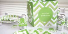 Chevron Green - Everyday Party Decorations Theme Baby Shower Themes, Shower Ideas, Green Party, Paper Shopping Bag, Party Supplies, Chevron, Bridal Shower, Neutral, Decorations