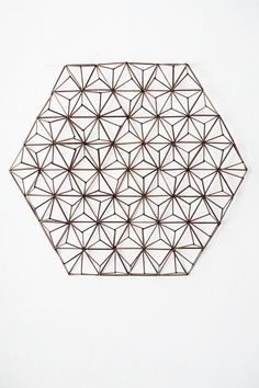 Asanoha Himmeli inspired by Japan. Eija Koski exhibition in Tokyo , Gallery Diy Arts And Crafts, Craft Stick Crafts, Crafts To Make, Straw Sculpture, Drinking Straw Crafts, Diy Straw, Do It Yourself Inspiration, Hanging Ornaments, Geometric Designs