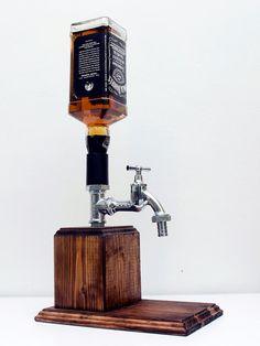 Handmade Wooden Alcohol Dispenser / Whiskey by SteamVintageWorks Alcohol Dispenser, Liquor Dispenser, Diy Gifts For Boyfriend, Boyfriend Presents, Husband Gifts, Whiskey Gifts, Mocca, Liquor Bottles, Handmade Wooden