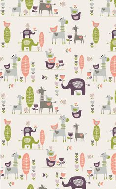 Colour and cute animals - Flora Waycott Design