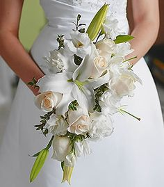 Gorgeous lily and rose bouquet