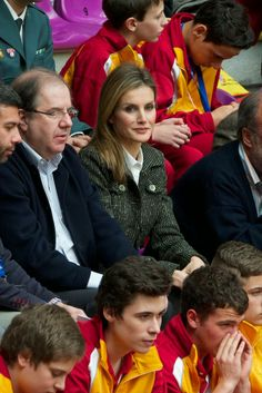 MYROYALS &HOLLYWOOD FASHİON: Crown Princess Letizia attended the Volleyball Spanish Scholarship competition 2014 at the Pisuerga stadium  in Valladolid, April 24, 2014