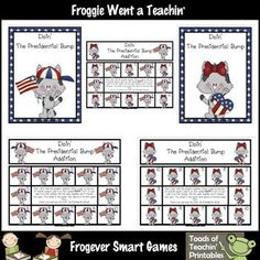 Here's a President's Day themed Bump board for practicing addition facts.