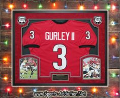 Autographed and Custom Framed Todd Gurley Georgia Bulldogs Jersey!  What a statement this will make in any man cave in a DAWGS House!  #ToddGurley #Autographed #GeorgiaBulldogs #Mancavedecor #Giftsforhim