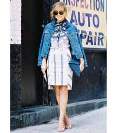 Denim jacket with prints and patterns