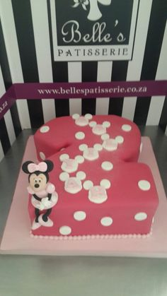 It's a Minnie Mouse cake! Belle's Patisserie