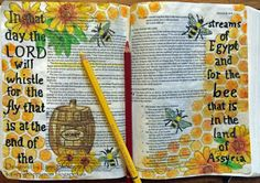 .....Scrappy Happy Mom: Bees and Honey - Bible Journaling Isaiah 7:18