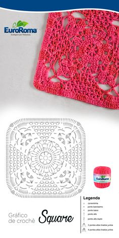 Transcendent Crochet a Solid Granny Square Ideas. Inconceivable Crochet a Solid Granny Square Ideas. Crochet Squares, Granny Square Crochet Pattern, Crochet Blocks, Crochet Diagram, Crochet Chart, Crochet Granny, Crochet Motif, Diy Crochet, Crochet Designs