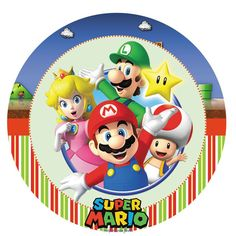 It's-a Mario, Luigi, Peach, and Toad. This foil Super Mario Balloon features the whole gang. Let this square Super Mario Balloon fly at your party. Super Mario Party, Super Mario Bros, Mario Bros Png, Bolo Super Mario, Super Mario Birthday, Mario Birthday Party, Super Mario Brothers, Super Mario Peach, Birthday Ideas