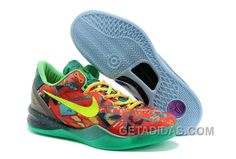 separation shoes 6ad65 119f8 Nike KOBE 8 VARISTY Rouge Vert Pourpre 635438 800 Chaussures Kobe Shoes,  New Jordans Shoes
