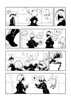 """NieR:Automata [1] """"I will kill this creature for hurting you."""" """"NO! That's okay-!"""""""