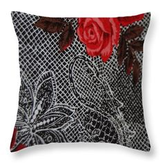 5018 Throw Pillow featuring the digital art 5018 by Aileen Griffin