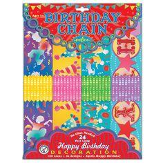 Birthday Paper Chain| eeBoo