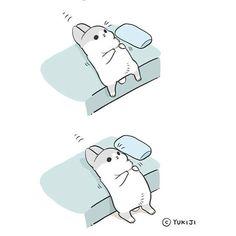 懶骨頭  #ㄇㄚˊ幾#rabbit#YUKIJI#覺得想睡 by machiko324