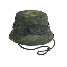 Cotton Camo Bucket Hat