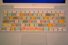 DIY washi tape. Pretty-up your keyboard!