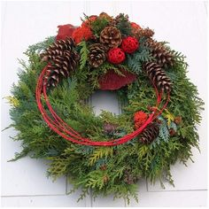 Fri-Collection tomb jewelry dead Sunday tomb of All Saints with Koniferengrün freshly bound 50 cm Christmas Flower Arrangements, Christmas Greenery, Christmas Door, Rustic Christmas, Christmas Time, Floral Arrangements, Christmas Wreaths, Christmas Crafts, Art Floral Noel